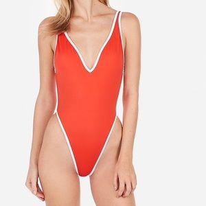 🍊Express Orange High Leg One Piece Swimsuit